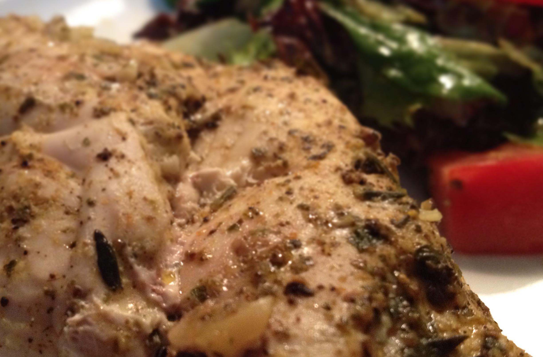Pierś kurczaka faszerowana orzechami