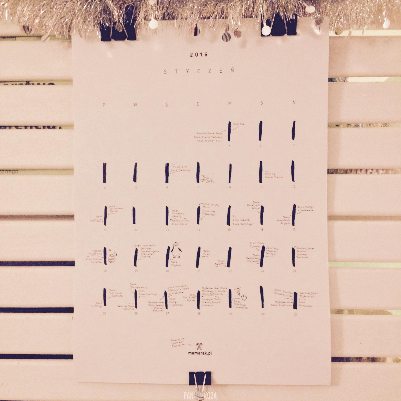 Kalendarz 2016 do wydrukowania - 5 propozycji