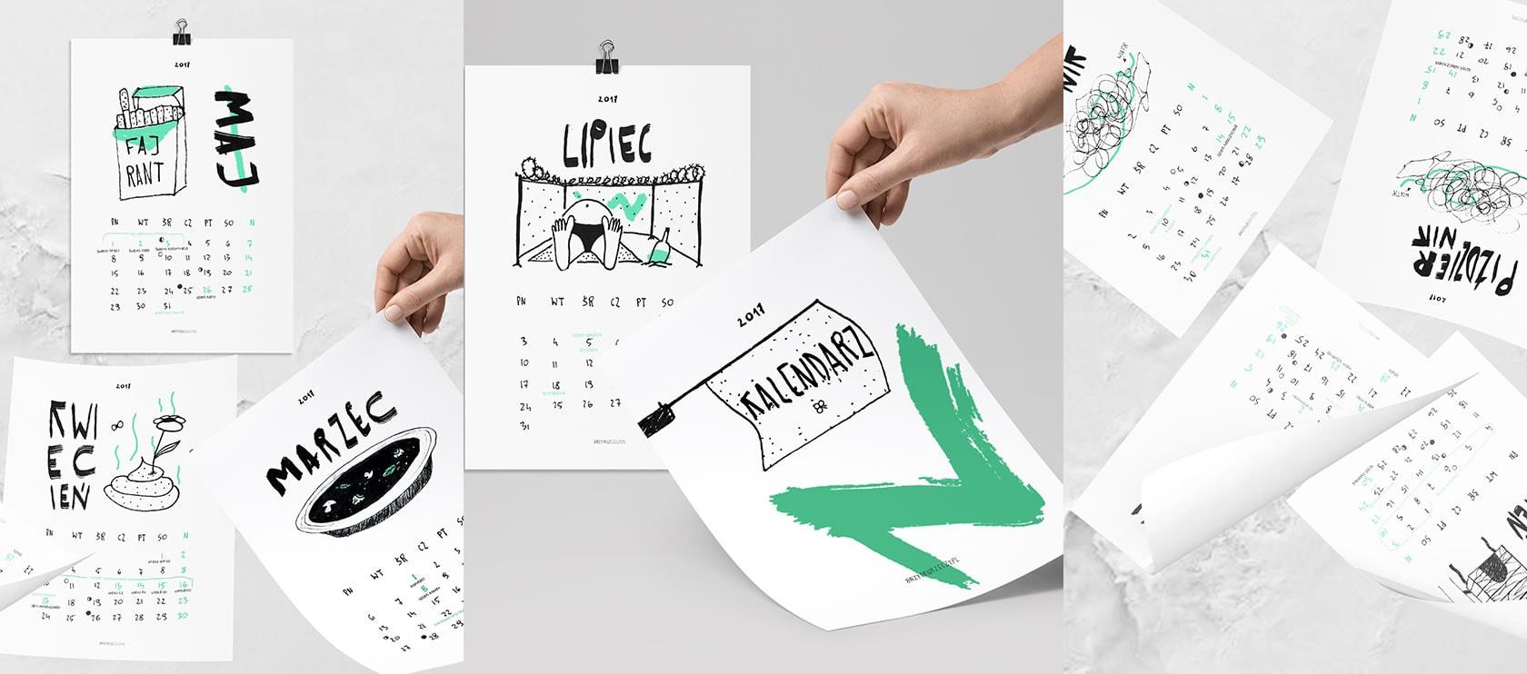 Wydrukuj sobie kalendarz 2017 za darmo!